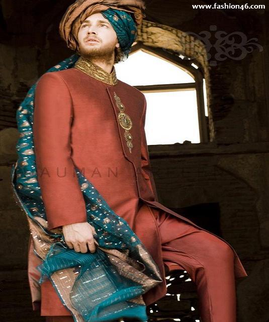 Mens fashion, Naushimian men's collection, Naushimian men's dresses 2013, bridal sherwani for men, bridal sherwani, asian clothes, anarkali suits, mens clothing styles, latest pakistani fashion, pakistan fashion trends, new fashion for 2013, trend fashion 2013, pakistani dresses, groom dress, dress for men