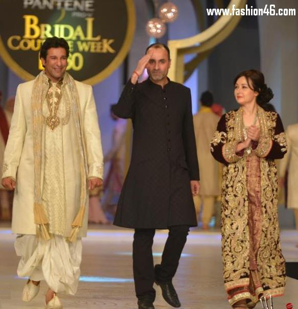 Latest bridal dresses, latest dresses, latest fashion news, Pakistani celebrities, wasim akram, zeba bakhtiar, pantene bridal couture week 2013, Deepak parwani, bridal dresses collection, kurta with trousers, bridal wear, bridal wedding dresses, bridal couture, new wedding dresses, pakistani wedding dresses, wedding dresses, bridal dresses